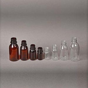 بطری های دارویی از 30 سی سی تا 220 سی سی گرد